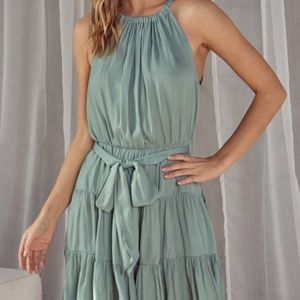 Dresses - TIERED HALTER DRESS.